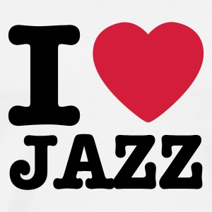 Blanco I love jazz / I heart jazz Baby Body - Camiseta premium hombre