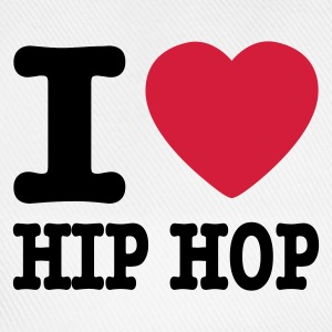 Bianco I love hiphop / I heart hiphop Pullover - Cappello con visiera