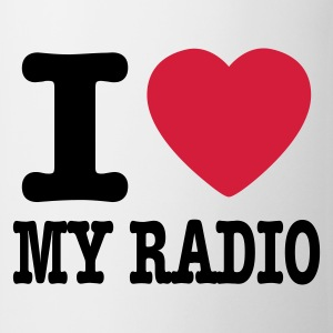 Wit i love my radio / I heart my radio Ondergoed - Mok
