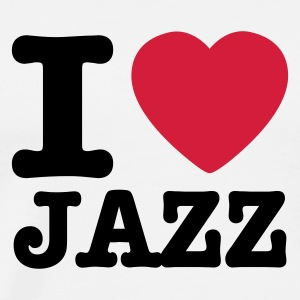 Wit I love jazz / I heart jazz Sweaters - Mannen Premium T-shirt