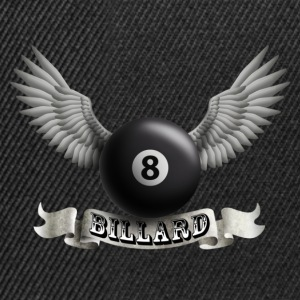 Black billard_wings_a Kids' Shirts - Snapback Cap
