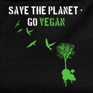 Schwarz Save the planet - Go Vegan/white T-Shirts - Kinder Rucksack