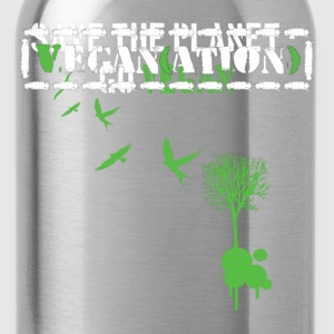 Schwarz Save the planet - Go Vegan/white T-Shirts - Trinkflasche