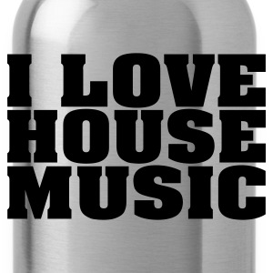 Rood i_love_house_music T-shirts - Drinkfles