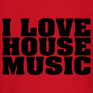 Rood i_love_house_music T-shirts - T-shirt