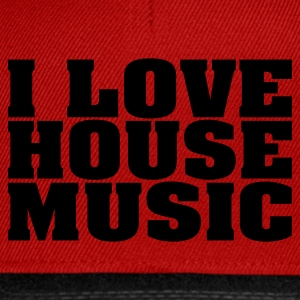 Rood i_love_house_music T-shirts - Snapback cap
