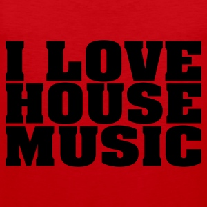 Rood i_love_house_music T-shirts - Mannen Premium tank top