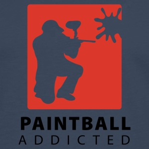 Marine paintball_addicted_3 T-skjorter - Premium langermet T-skjorte for menn
