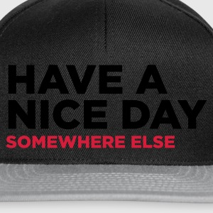 Noir Have A Nice Day 2 (2c) Sweatshirts - Casquette snapback