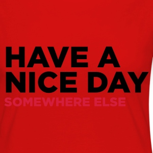 Red Have A Nice Day 2 (2c) Kids' Shirts - Women's Premium Longsleeve Shirt