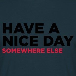 Navy Have A Nice Day 2 (2c)  Aprons - Men's T-Shirt