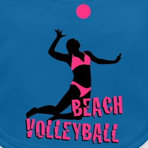 Royal blue beachvolleyball_woman_c_2c Kids' Shirts - Baby Organic Bib