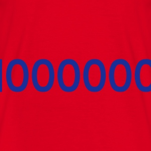 Rot 1000000 - ONE MILLION - eushirt.com Taschen - Camiseta hombre