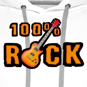 100_rock_guitars_red Flasker og krus - Herre Premium hættetrøje