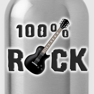 Schwarz 100_rock_guitars_black T-Shirts - Trinkflasche