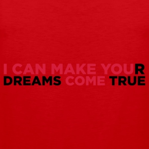 Red I Can Make You Come (2c)  Aprons - Men's Premium Tank Top