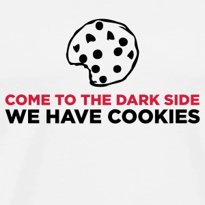 Hvid The Dark Side - We Have Cookies (2c) Krus - Herre premium T-shirt