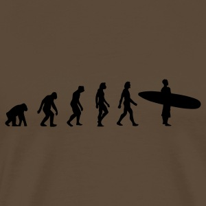 Chocolate Surfing Evolution 3 (1c) Langarmshirts - Männer Premium T-Shirt