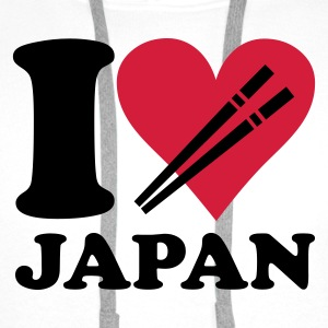 White Japan - I love Japan Women's T-Shirts - Men's Premium Hoodie