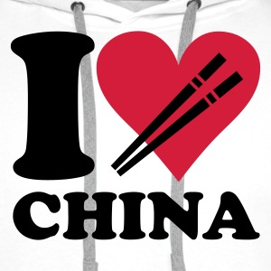 Wit China - I love China Kinder shirts - Mannen Premium hoodie