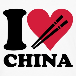 Blanco China - I love China Camisetas niños - Camiseta de manga larga premium hombre
