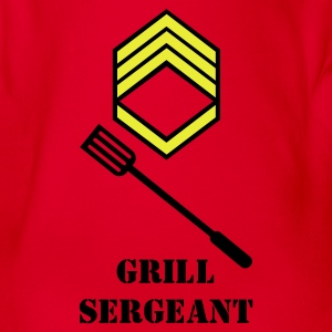 Red grill sergeant (2c) Kids' Shirts - Organic Short-sleeved Baby Bodysuit