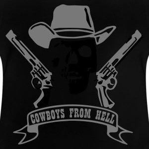 Black cowboys_from_hell_2c Kids' Shirts - Baby T-Shirt