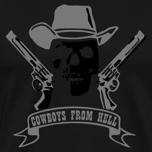 Black cowboys_from_hell_2c  Aprons - Men's Premium T-Shirt