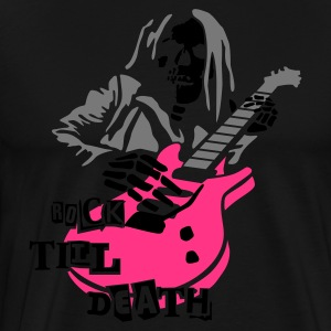 Black dead_guitar_player_2_3c  Aprons - Men's Premium T-Shirt