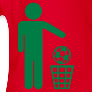 Red Soccer - against Kids' Shirts - Organic Short-sleeved Baby Bodysuit