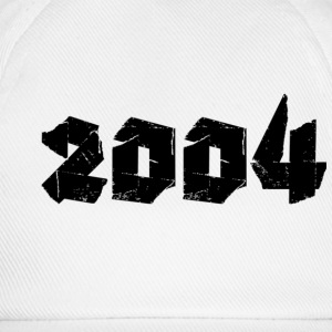 White Jahr 2004 Buttons - Baseball Cap
