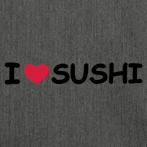 Grau meliert I Love Sushi Pullover - Schultertasche aus Recycling-Material