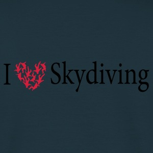 Navy freefly heart Jacken - Männer T-Shirt