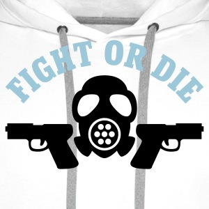 Weiß Paintball - Fight or die © T-Shirts - Sudadera con capucha premium para hombre