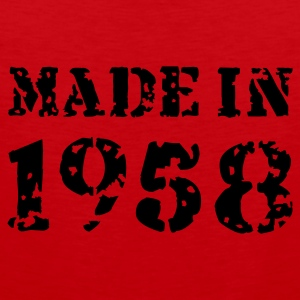 Rot Made in 1958 Pullover - Männer Premium Tank Top