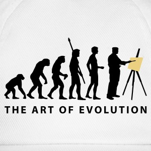 White evolution_artist_b_2c  Aprons - Baseball Cap