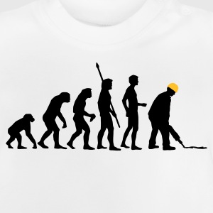 White evolution_bauarbeiter_2c Kids' Shirts - Baby T-Shirt