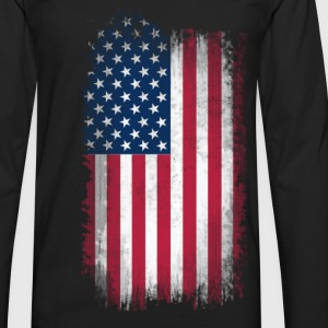 Eroded USA Flag T-Shirts - Men's Premium Longsleeve Shirt