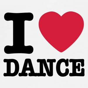 Wit I love dance / I heart dance Ondergoed - Mannen Premium T-shirt