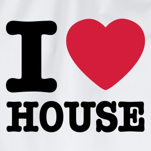 Weiß i love house / I heart house Pullover - Turnbeutel