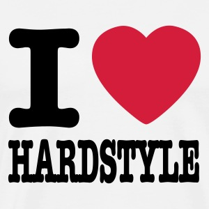 Blanc/noir I love hardstyle / I heart hardstyle T-shirts manches longues - T-shirt Premium Homme