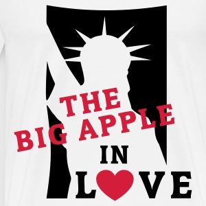 The BIG APPLE in LOVE | Kontrastshirt - Männer Premium T-Shirt