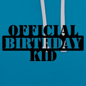 Sort official birthday kid (1c) Accessories - Kontrast-hættetrøje