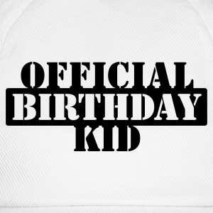 Bianco official birthday kid (1c) Bottoni/Spille - Cappello con visiera