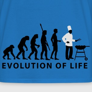 Royal blue evolution_grill_e_2c  Aprons - Men's T-Shirt