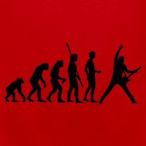 Red/white evolution_guitar_b Bags  - Men's Premium Tank Top