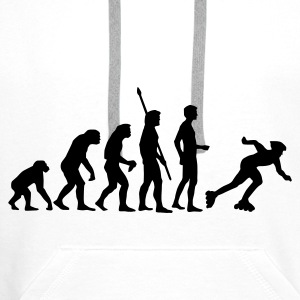 White evolution_inliner_1c  Aprons - Men's Premium Hoodie