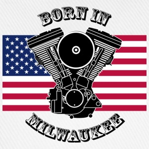 Weiß born_in_milwaukee_3 T-Shirts - Baseballkappe