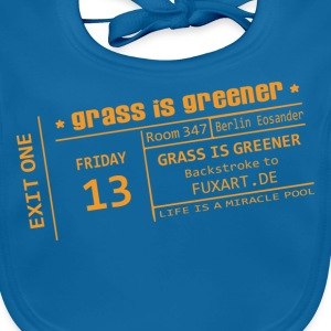 Navy ticket: grass is greener Kinder T-Shirts - Baby Bio-Lätzchen