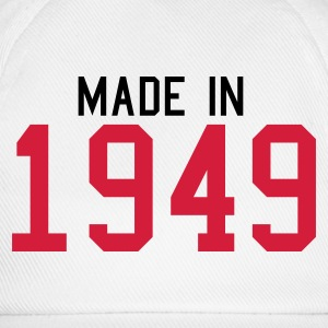 White 1949 Men's T-Shirts - Baseball Cap